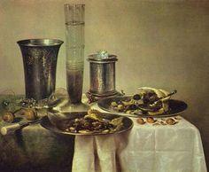 Willem Claesz. Heda (1594–1680) Fin de collation, dit aussi Un dessert Date1637Mediumoil on panelDimensions44 × 56 cm (17.3 × 22 in)Current location Louvre Museum