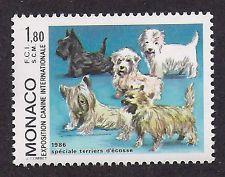Dog Art Postage Stamp SCOTTISH WESTIE CAIRN SKYE GLEN IMAAL TERRIER Monaco MNH