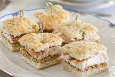 Red Snapper Tea Sandwiches with Green Olive Relish