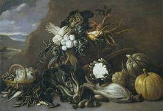 """""""Bodegón de hortalizas"""", Anónimo, Siglo XVII"""