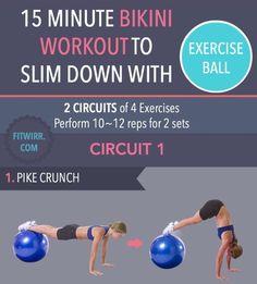 15 Min Bikini Slim Down Workout  #Health #Fitness #Trusper #Tip