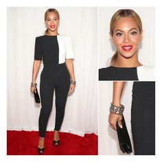 Beyonce's Red Carpet Grammy Fashion over the Years Fashion Over, I Love Fashion, Daily Fashion, Beyonce New Album, Beyonce Red Carpet, Grammys 2013, Grammy Fashion, Bright Red Lipstick, Beyonce Style