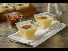 Crema de puerros y pera con crujiente de jamón Creme, Panna Cotta, Cooking, Ethnic Recipes, Food, Youtube, Soups, Vegetables, Sweet Treats