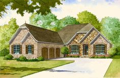 French Country House Plan with 2 Kitchens - 70502MK | Architectural Designs - House Plans