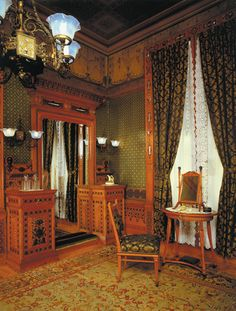 Pottier and Stymus, or George Schastey, Dressing Room, Arabella Worsham Huntington residence, 4 West 54th Street, ca 1881-84