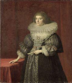Portret van Ursula (1594-1657), gravin van Solms-Braunfels, anoniem, c. 1630