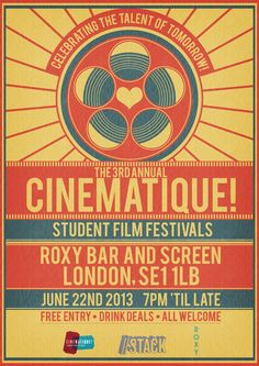Cinematique! Film Festival Poster 2013 by RicGrayDesign.deviantart.com on @deviantART