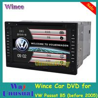 Free Shipping Professional Wince Car Multimedia System DVD Player For VW Passat B5 Before 05/Golf4/Skoda Tour With GPS Free Map