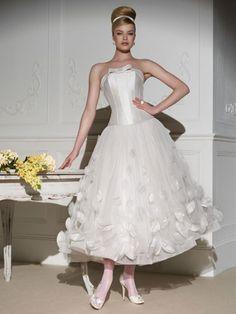 Vestido de Novia Strapless con Corset y Falda de Tul