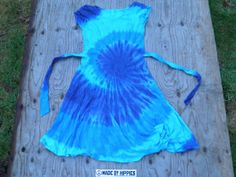 The Blues Spiral Tie Dye Dress