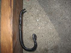 Metal wall hook by MuddyRiverIronWorks on Etsy, $15.00
