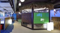 Escape to the cabana during a workday at Google Haifa. Photo by Uzi Porat