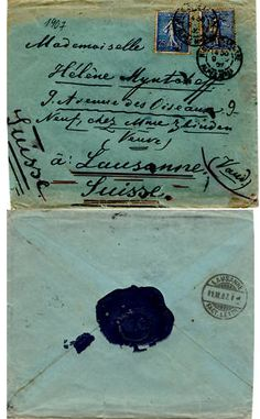 blue envelope & letter