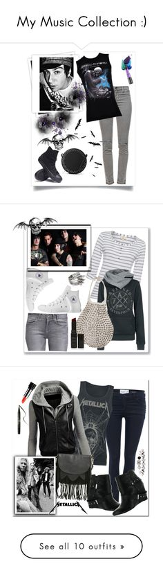 """My Music Collection :)"" by christinacastro830 ❤ liked on Polyvore featuring J Brand, Converse, MANGO, GALA, Urban Decay, GUESS, Linea Weekend, Tom Binns, Topshop and Armani Jeans"