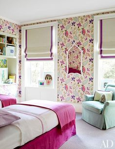 A children's room springs to life with a vivid Osborne & Little wallpaper.