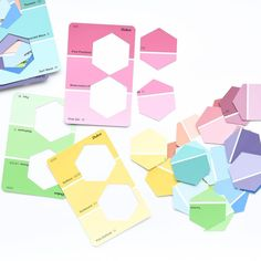 """650 Likes, 31 Comments - A Crafty LIVing • Olivia (@acraftyliving) on Instagram: """"How simple are these Colour/Shade matching Busy Bag Puzzles I made with Paint Chips & a Hexagon…"""""""