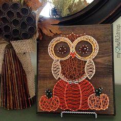 Owl - Autumn string art by  my2heartstrings