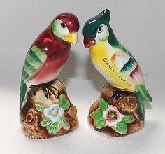Vintage Toucan Parrot Birds Salt & Pepper Shaker Set