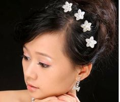 128pcs/lot Free Shipping Hair Jewelry, Crystal Flower Hair Pins, Wedding Party Hair Clips-in Hair Jewelry from Jewelry on Aliexpress.com