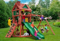 Gorilla Playsets Double Down Wooden Swing Set from NJ Swingsets