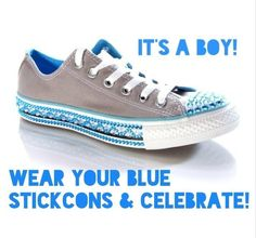 A boy for Kate & William! #WellDoneKate & congratulations! Celebrate in style with blue #Stickcons #custom #bling or wear your BLUE Red & Clear #Stickcons to create the Union Jack! #RoyalBaby    Schuh.co.uk