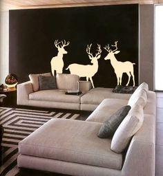 ev dekorunda geyik desenleri kullanimi aksesuar kumas ve geyik kafalari (3)