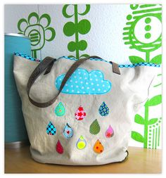 A nice idea Couture, Easy Projects, Sewing Hacks, Diaper Bag, Pouch, Crafty, Kids, Inspiration, Jute Bags