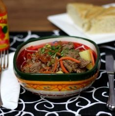 Panamanian beef stew, made with natural ingredients is simply delicious. It's your tried and true comfort food beef stew with a Latin American twist! Beef Recipes, Cooking Recipes, Candy Recipes, Fall Recipes, Yummy Recipes, Panamanian Food, Soups And Stews, Beef Stews, Rice