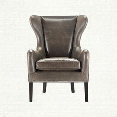 Pinot is a classic wing chair. Its graceful back and arms create a beautiful and comforting shape and the lovely leather selection lends to its likin