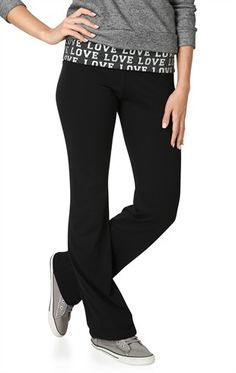 Flared Yoga Pant with Love Fold Over Waistband d9b87ad351f7