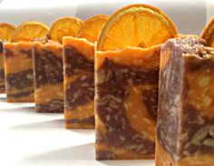 Juicy orange and patchouli rebatched soap.