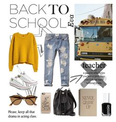 """Back to school"" by eva-gorenjak-i ❤ liked on Polyvore featuring ASOS, H&M, Abercrombie & Fitch, Alexander Wang, Converse, Ray-Ban, Casetify and Essie"