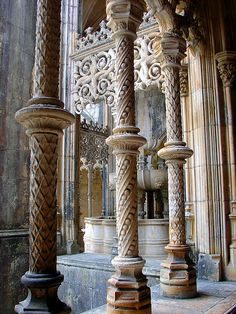 The convent was built to thank the Virgin Mary for the Portuguese victory over the Castilians in the battle of Aljubarrota in 1385, fulfilling a promise of King John I of Portugal.Gothic architecture at Batalha Monsatery, Portugal.