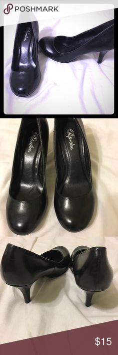Black pumps, round toe Black pumps, round tie, brand-paprika, used once, in good condition! Paprika Shoes Heels