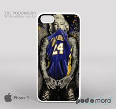 Marilyn Monroe LA Lakers for iPhone 4/4S, iPhone 5/5S, iPhone 5c, iPhone 6, iPhone 6 Plus, iPod 4, iPod 5, Samsung Galaxy S3, Galaxy S4, Galaxy S5, Galaxy S6, Samsung Galaxy Note 3, Galaxy Note 4, Phone Case