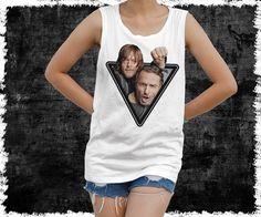 The Walking Dead Shirt  Rick & Daryl Dixon Shirt  women's by vezaa