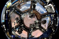 Cameras floating in the International Space Station, set up and ready to capture interesting passes above Earth. Watch how Astronauts like Don Pettit capture breathtaking photos from Space: http://youtu.be/rwt3kMivZk4