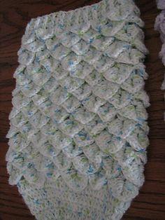 Ravelry: Crocodile Stitch Newborn Baby Cocoon pattern by Laura Tegg Crochet Baby Cocoon Pattern, Crochet Baby Cardigan, Baby Blanket Crochet, Baby Patterns, Knitting Patterns Free, Baby Knitting, Crochet Patterns, Free Pattern, Crochet Ideas