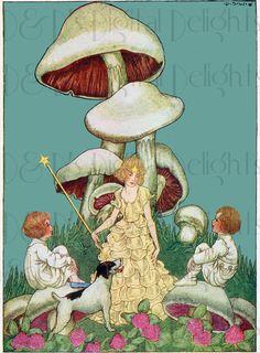 SweetFairy e fate fungo/VINTAGE / bambini di DandDDigitalDelights