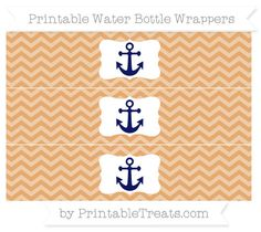 Fawn Chevron  Nautical Water Bottle Wrappers