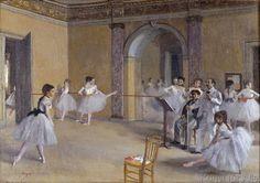 Edgar Degas - Le foyer de la danse à l'Opéra de la rue Le Peletier