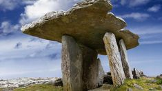 "Poulnabrone Dolmen (""hole of sorrows"") in County Clare, Ireland"