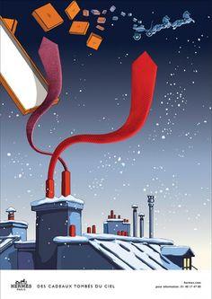 Hermès - campagne de publicité / ad campaign - Noël 2014 - Publicis & Nous - tie - by Dimitri Rybaltchenko