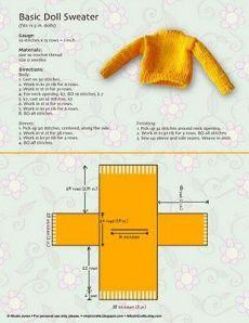 hogyan kell kötni egy barbie baba pulóver |  Doll ruhák