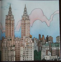 Spend A Summer Afternoon With Fantastic Cities Coloring Book And