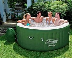 Inflatable Hot Tub Pool Cover Spa Jacuzzi Heat Massage Outdoor 4 Person Portable for sale online Inflatable Hot Tub Reviews, Portable Spa, Portable Hot Tub Ideas, Portable Bathtub, Malibu Homes, Relax, Whirlpool Bathtub, Spas, Lawn And Garden