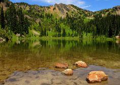 Sheep Lake near Chinook Pass   by oldmantravels