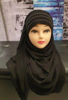 Hijab A Enfiler, Hijab Outfit, Muslim Fashion, Hijab Fashion, Hijab Style, Bandeau, Detail, Outfits, Turbans