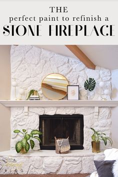 Hottest Cost-Free Fireplace Remodel Popular Excellent Pics Fireplace Remodel Tips Stone fireplace transformation with Jolie Paint – a Ha Whitewash Stone Fireplace, Stone Fireplace Makeover, Fireplace Update, Paint Fireplace, White Fireplace, Fireplace Remodel, Fireplace Mantle, Fireplace Design, Painted Rock Fireplaces
