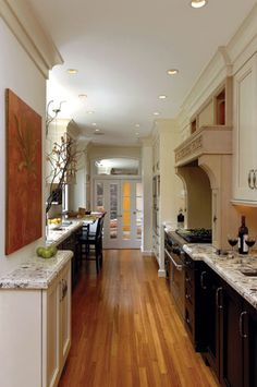 1000 images about kitchens on pinterest long narrow kitchen narrow kitchen and galley - Long galley kitchen ideas ...